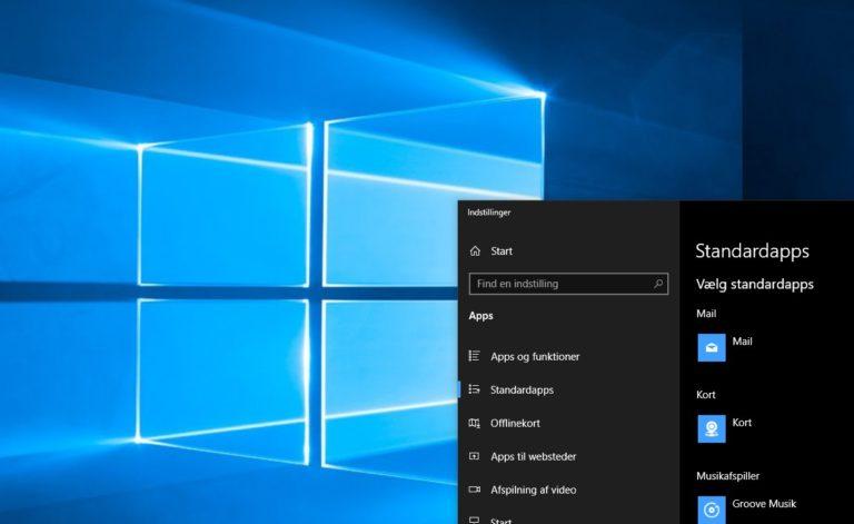 Sådan skifter du standardapps i Windows 10